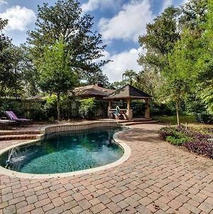 English Cottage Pool Home Florida Style photos Exterior
