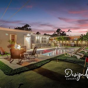 Private Pool Trendy 4Br House With Work Station & Gameroom photos Exterior