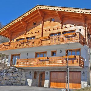 Spacious Chalet With View Next To Crans-Montana, Oursons photos Exterior