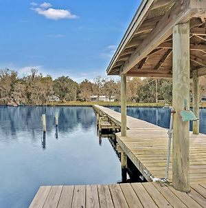 Riverfront Home With Dock, Fishing, Charcoal Bbq, Amazing Sunsets!! photos Exterior
