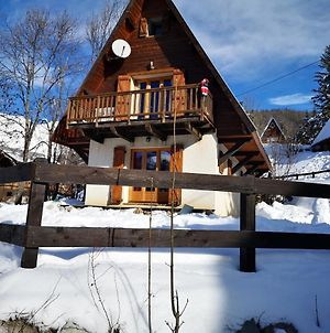 Chalet With One Bedroom In Allos With Wonderful Mountain View And Furnished Garden photos Exterior