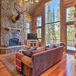 Luxury Log Cabin With Mountain Views And Hot Tub! photos Exterior