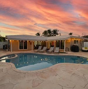 New! Tropical Escape In Pompano With Private Heated Pool, Spa, And Coverd Pergola photos Exterior
