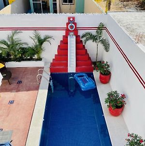 Casa Piramide: Fully Furnished 2-Bedroom House W/ Private Swimming Pool And Waterfall, 5 Minute Walk From The Beach photos Exterior