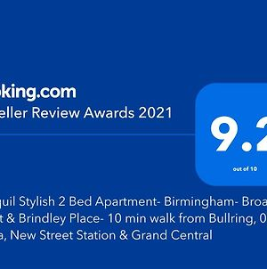 Tranquil Stylish 2 Bed Apartment- Birmingham- Broad Street & Brindley Place- 10 Min Walk From Bullring, 02 Arena, New Street Station & Grand Central photos Exterior