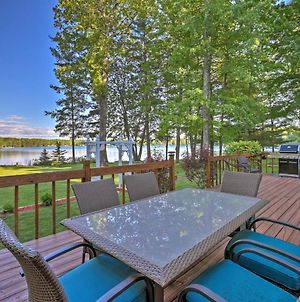 Lakefront Interlochen Home With Deck, Fire Pit And Dock photos Exterior