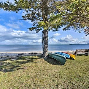 St Ignace Cottage With Deck And Beach On Lake Huron! photos Exterior
