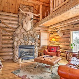 Spacious Log Cabin On Rum River With Fire Pit! photos Exterior