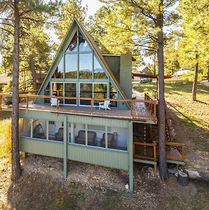Spacious Flagstaff A-Frame Cabin With Deck And Views! photos Exterior