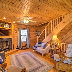 Rustic Purlear Cabin With Mtn Views And Game Room photos Exterior