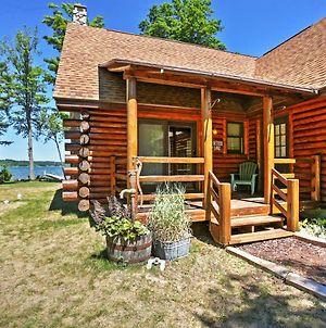 Waterfront Lake Leelanau Log Cabin With Private Dock! photos Exterior