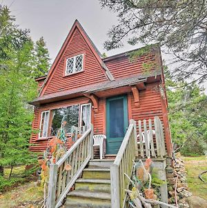 Rustic Waterfront Cabin With Beach In Winter Harbor! photos Exterior