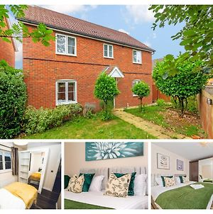 Homely Spaces Bedford 5-Bed House With Super King Beds, Up To 12 Guests, Free Parking, Wifi, Garden And Bbq photos Exterior