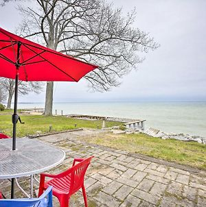 Seasonal Lakefront Tawas City Home With Grill! photos Exterior