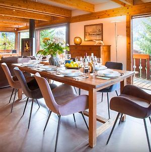 Ski Chalet In The Aravis For 8 Close To Slopes With Mountain Views Sunny Terrace & Sauna photos Exterior