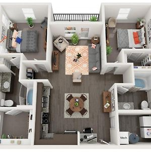 Grand Two Bedroom Two Bathroom Apartment With Balcony photos Exterior