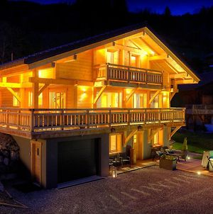 Alpine Holiday In Luxury Chalet For 11 With Outdoor Jacuzzi Valley Views & Cool For Kids Features photos Exterior