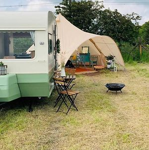Private Glamping In A Vintage Caravan & Bell Tent photos Exterior