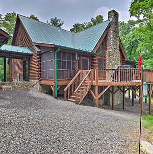 Purlear Luxury Log Cabin With Hot Tub And Views! photos Exterior