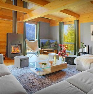Alpine Luxury Chalet For 11 In Manigod Terrace Hot Tub Games Room And Beautiful Mountain Views photos Exterior