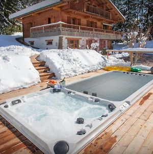 Beautiful Renovated Chalet For 14 In La Clusaz With Sauna Outdoor Hot Tub & Stunning Mountain Views Close To Slopes photos Exterior