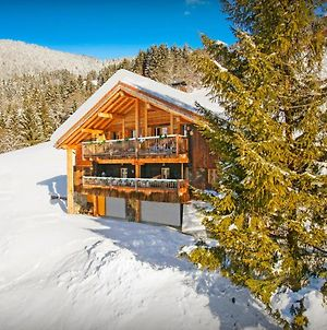 Savoyard Alpine Chalet For 11 With Spa & Games Room Panoramic Views And All Season Activities Nearby photos Exterior
