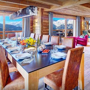 Relaxing Manigod Chalet For 14 With Shared Indoor Pool Private Jacuzzi And Easy-Access To Skiing Endless Beautiful Sunsets photos Exterior