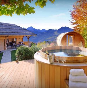 Alpine Chalet For 13 In Manigod With Sauna Barrel Hot Tub & Open Fire Perfect For A Relaxing Holiday photos Exterior