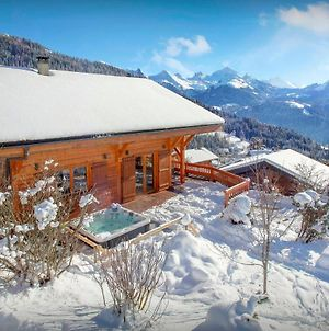 Peaceful Family Mountain Chalet For 14 With Breathtaking Views Spa & Games Room In Manigod photos Exterior