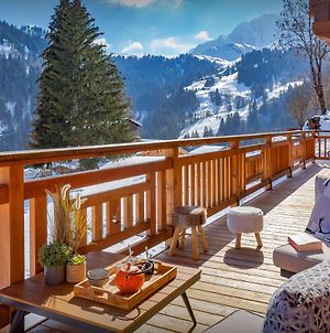 Modern Ski Chalet Sleeps 10 In Megeve Close To Ski-Bus With Jacuzzi And Wonderful Views photos Exterior