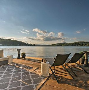Waterfront Harveys Lake House With Boat Slip And Dock! photos Exterior