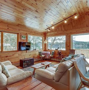 Two Story Adirondack Log Cabin photos Exterior