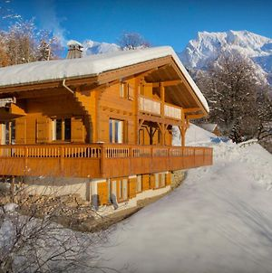 Charming Family Chalet Sleeps 8 With Cosy Fireplace Sauna & Aravis Mountain Views photos Exterior