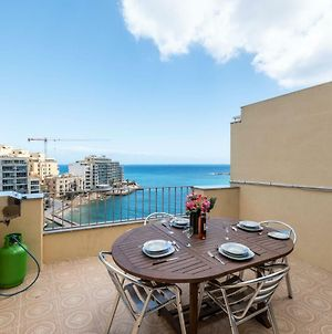 Getawaysmalta- Spinola Bay 1-Bedroom Seafront Penthouse St Julian Near Paceville photos Exterior