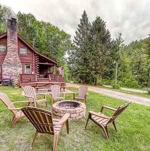 Irresistible Schroon River Front Log Cabin photos Exterior