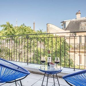 Large Flat For 4 People With Terrace And View On The Eiffel Tower photos Exterior