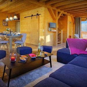 Contemporary Alpine Chalet In Valmorel For 10 Relax In Sauna & Enjoy Great Views Close To Ski Lift photos Exterior
