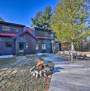 Grand Log Cabin With Hot Tub - 4 Miles To Whiteface! photos Exterior