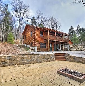 North Conway Log Cabin With Porch, Grill & Fire Pit! photos Exterior