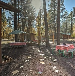 Cozy Pinetop Cabin With Patio In Woodland Lake Park! photos Exterior