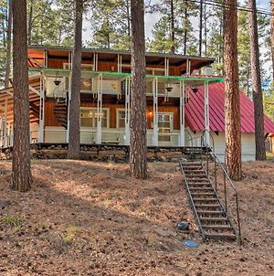 Secluded Ruidoso Cabin With Forest Views And Porch! photos Exterior