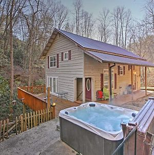 Bryson City Cottage With Hot Tub & Waterfall Views! photos Exterior