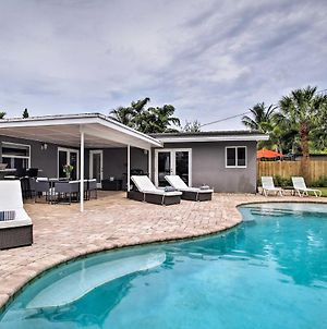 Ground-Level Wilton Manors Home With Outdoor Oasis! photos Exterior