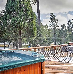 Rustic Alto Cabin With Hot Tub, Deck & Fireplace! photos Exterior