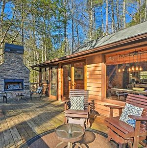 Blue Ridge Mtns Creekside Cabin With Hot Tub And Pier! photos Exterior