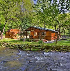 Bryson City Cabin With Fire Pit On Coopers Creek! photos Exterior