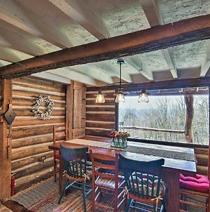 Quiet Log Cabin With Mtn Views - 17 Mi To Asheville! photos Exterior