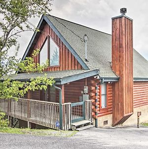 Log Cabin By Douglas Lake With Hot Tub And Mtn Views! photos Exterior