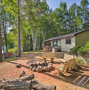 Lakefront Manistique Cabin With Private Dock And Fire Pit photos Exterior