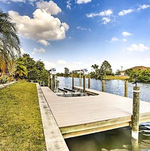 Waterfront Cape Coral Home With Dock, Pool & Lanai! photos Exterior